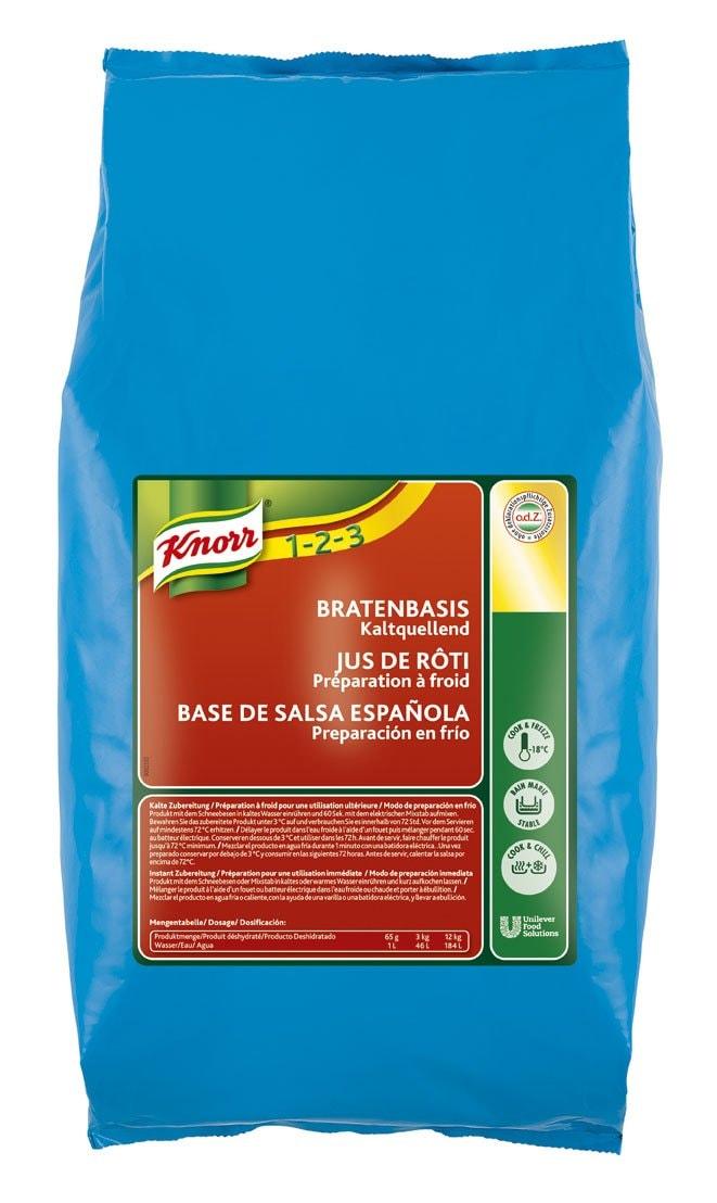 Knorr Salsa Base Española en frío deshidratada Sin Gluten bolsa 3Kg -