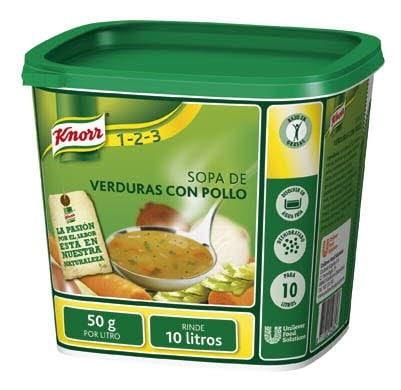 Knorr Sopa de Pollo Con verduras deshidratada bote 500g -