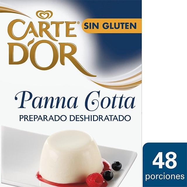 Carte d'Or Panna Cotta deshidratada sin gluten caja 48 raciones - Panna Cotta Carte d'Or, elegido Nº1 por chefs en Italia, un postre clásico y versátil en tu carta o menú