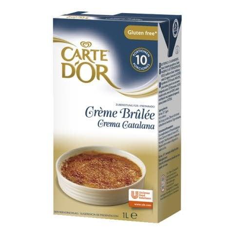 Crema Catalana lista para usar Carte d´Or Sin Gluten Brik 1L -