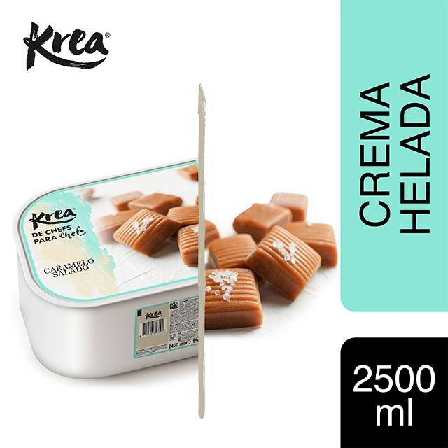 Helado de Caramelo Salado Krea 2,5L - La gama de helados Krea, exclusiva de restauración, te ofrece sabores sorprendentes para crear platos originales