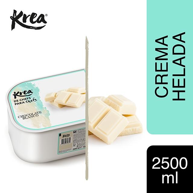 Helado de Chocolate Blanco Krea 2,5L - La gama de Helados KREA, exclusiva de Restauración, te ofrece sabores sorprendentes para crear platos originales.