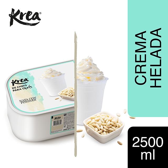 Helado de Nata con Piñones Krea 2,5L - La gama de helados Krea, exclusiva de restauración, te ofrece sabores sorprendentes para crear platos originales