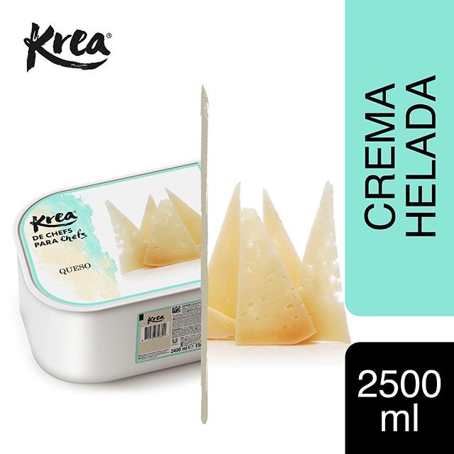 Helado de Queso Krea 2,5L - La gama de helados Krea, exclusiva de restauración, te ofrece sabores sorprendentes como el de Queso para crear platos originales