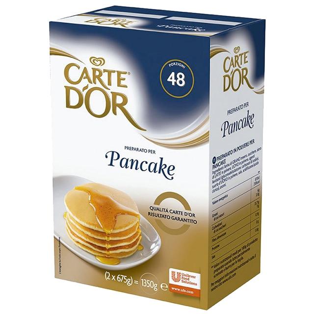 Pancakes Carte d'Or 48 porciones - El nuevo mix de Pancake Carte d'Or aporta mucha versatilidad, un solo producto para realizar distintas recetas
