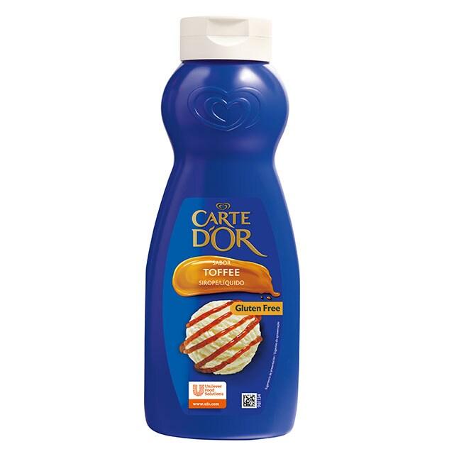 Sirope de Toffee Carte d'Or botella 1L Sin Gluten - La gama de Siropes Carte d'Or Profesional es la preferida por los chefs, debido a que está diseñada con colores y sabores para seducir con tus postres
