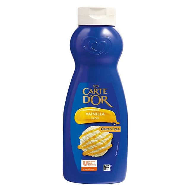 Sirope de Vainilla Carte d'Or botella 1L Sin Gluten - La gama de Siropes Carte d'Or Profesional es la preferida por los chefs, debido a que está diseñada con colores y sabores para seducir con tus postres