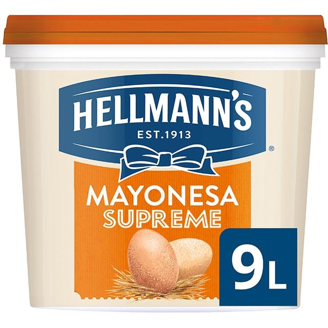 Hellmann's Gran Consistencia mayonesa cubo 9L - Hellmann's Supreme, con un 77% de aceite, aporta volumen y gran consistencia a tus platos