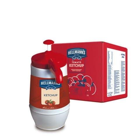 Ketchup Hellmann's Dispensador 2,5KG Sin Gluten -