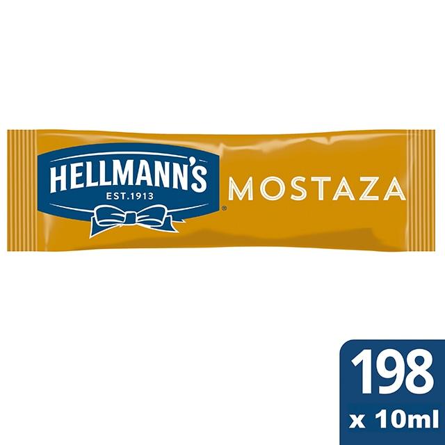 Mostaza Hellmann's monodosis 10ml. Caja de 198 uds. Sin Gluten - Ofréceles toda la calidad de Hellmann's en un práctico formato monoporción