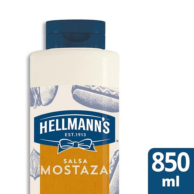 Salsa de Mostaza Americana Hellmann's botella 850ML Sin Gluten - Salsas Especiales Hellmann's. Nuevos sabores en un práctico envase