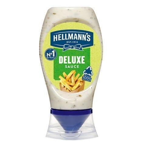 Salsa Patatas Deluxe Hellmann's bocabajo 250ml Sin Gluten -