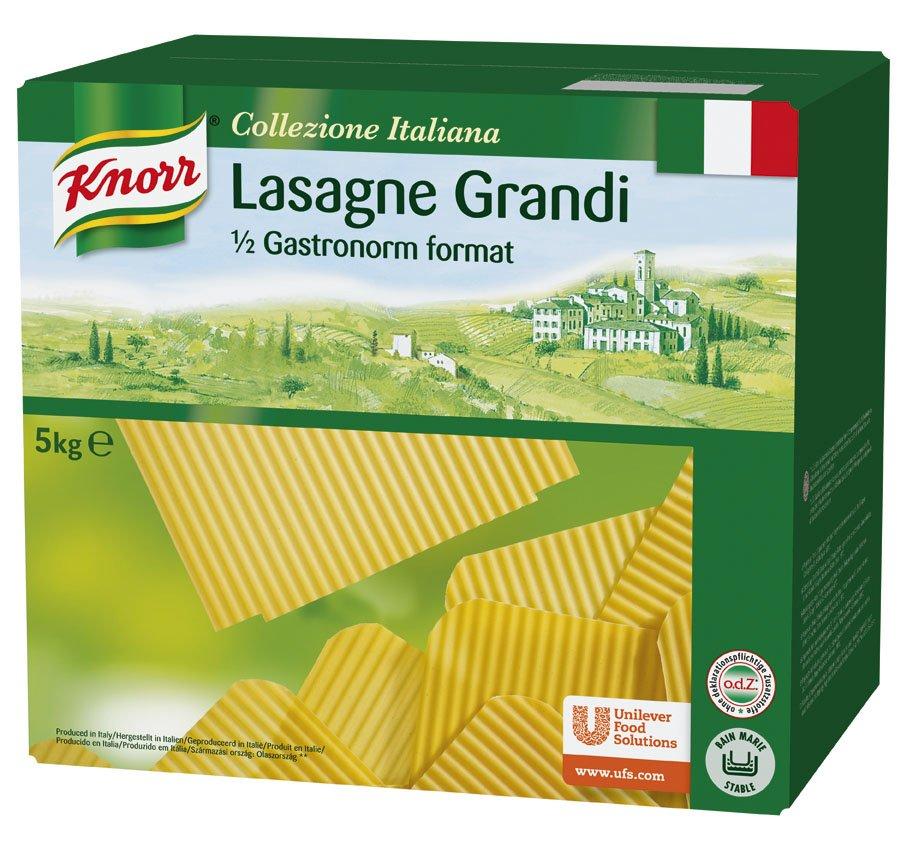 Knorr Lasaña en láminas Pasta Seca Caja 5Kg -