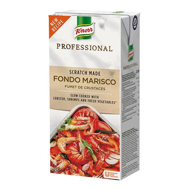 Knorr Profesional Fondo de Marisco Líquido Sin Gluten Brik 1L - El primer fondo cocinado como tú lo harías, 100% natural
