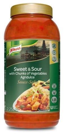 Knorr Salsa Agridulce líquida lista para usar Sin gluten bote 2,25L -