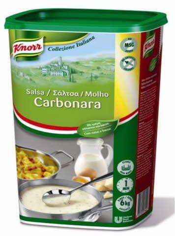 Knorr Salsa Carbonara para pastas deshidratada bote 1kg -