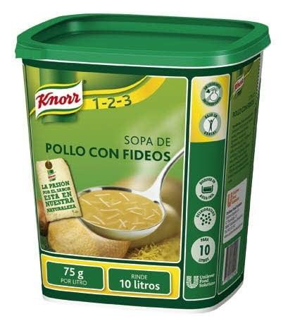 Knorr Sopa de Pollo Con Fideos deshidratada bote 750g -