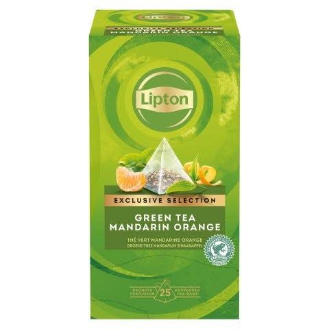 Té Verde Lipton Mandarina y Naranja, Caja con 25 sobres -