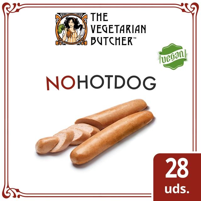 """The Vegetarian Butcher NoHotDog caja 28 x 75gr - The Vegetarian Butcher """"Tan jugoso como el pollo, más tierno que el cerdo y 100% vegetariano"""" Jaap Korteweg, fundador de The Vegetarian Butcher"""