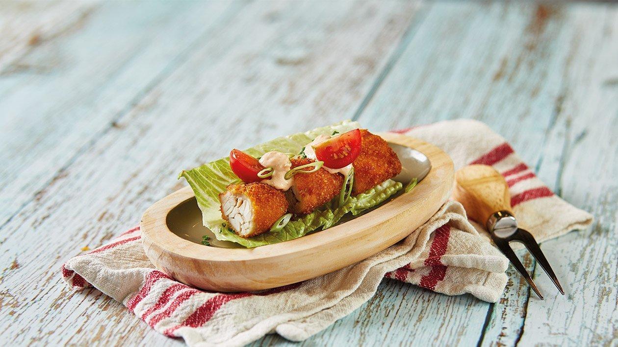 Alitas de pollo crujientes con mayonesa de tomate picante