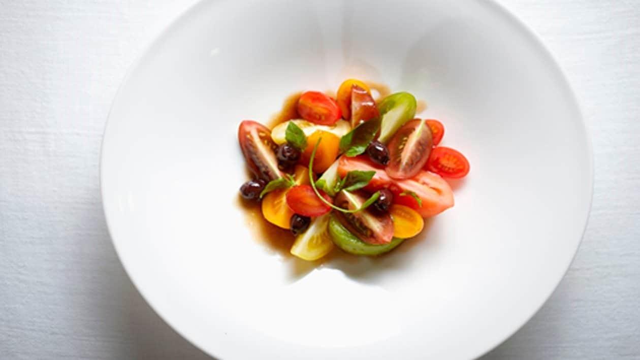 Ensalada de tomate multicolor
