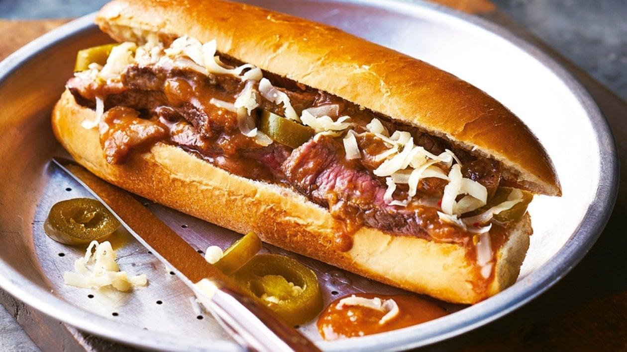 Philly steak roll