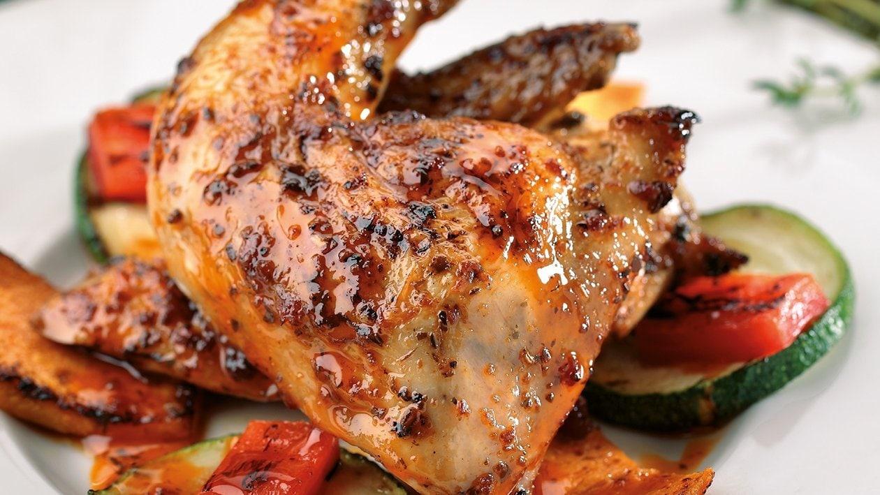 Pollo coquelette con marinado italiano