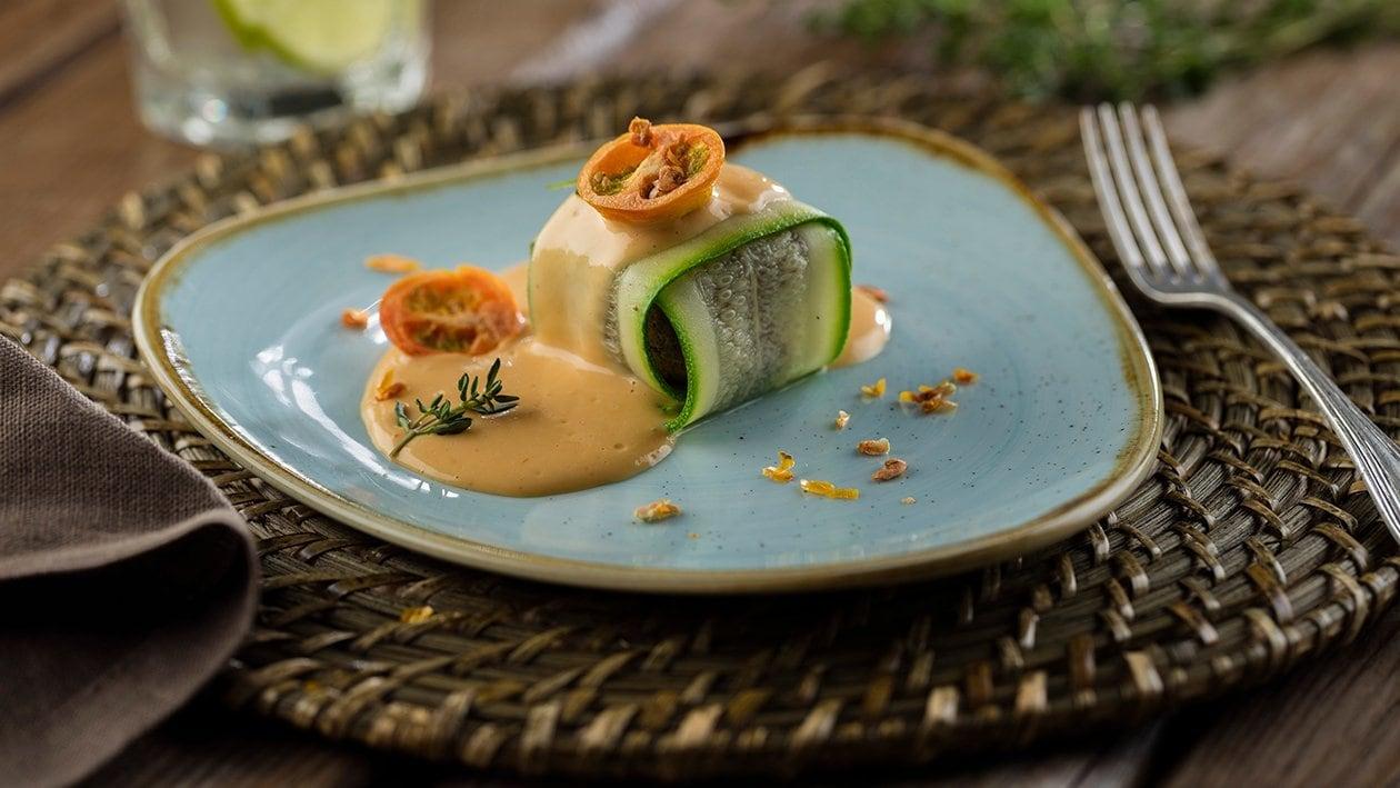 Ravioli de morcilla de Burgos con salsa fina de Maizena y Pomodoro Knorr