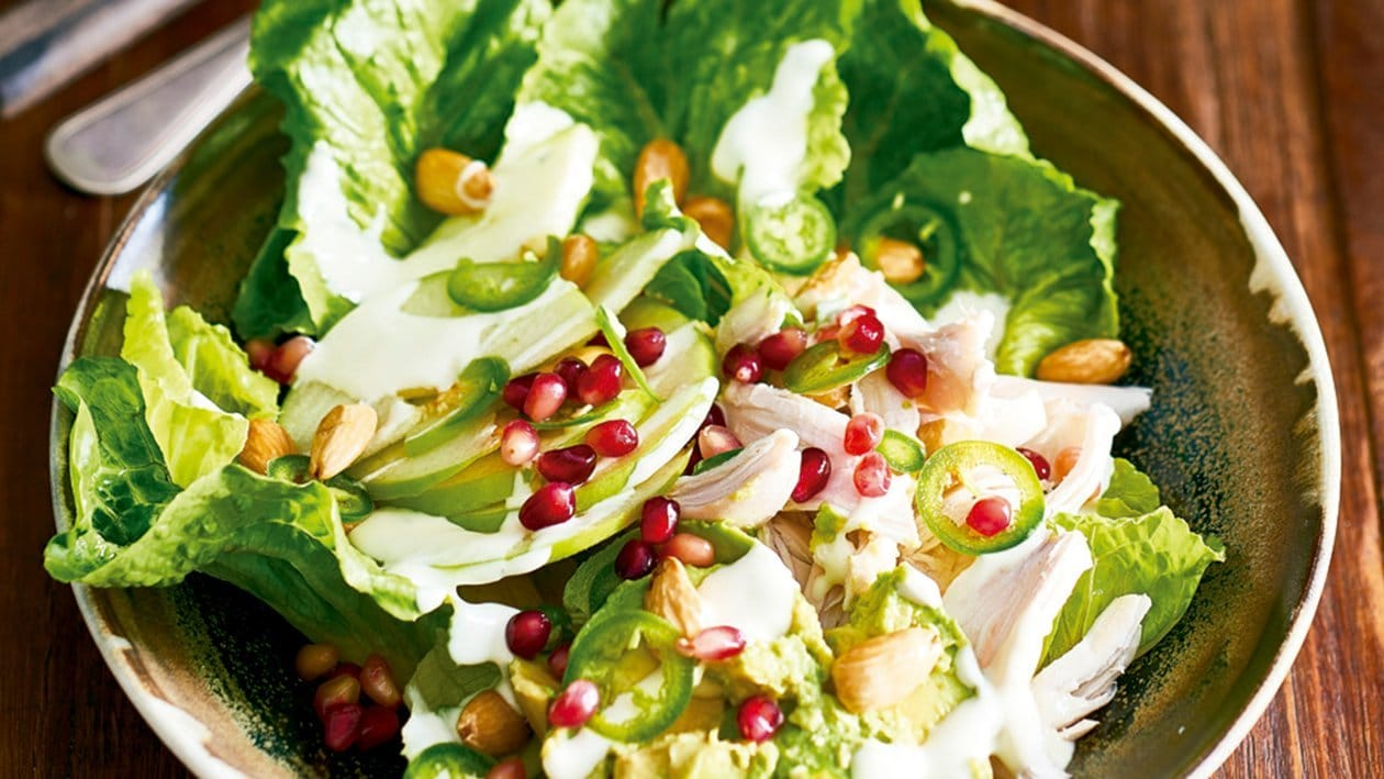 Southern smoked chicken pomegranate salad
