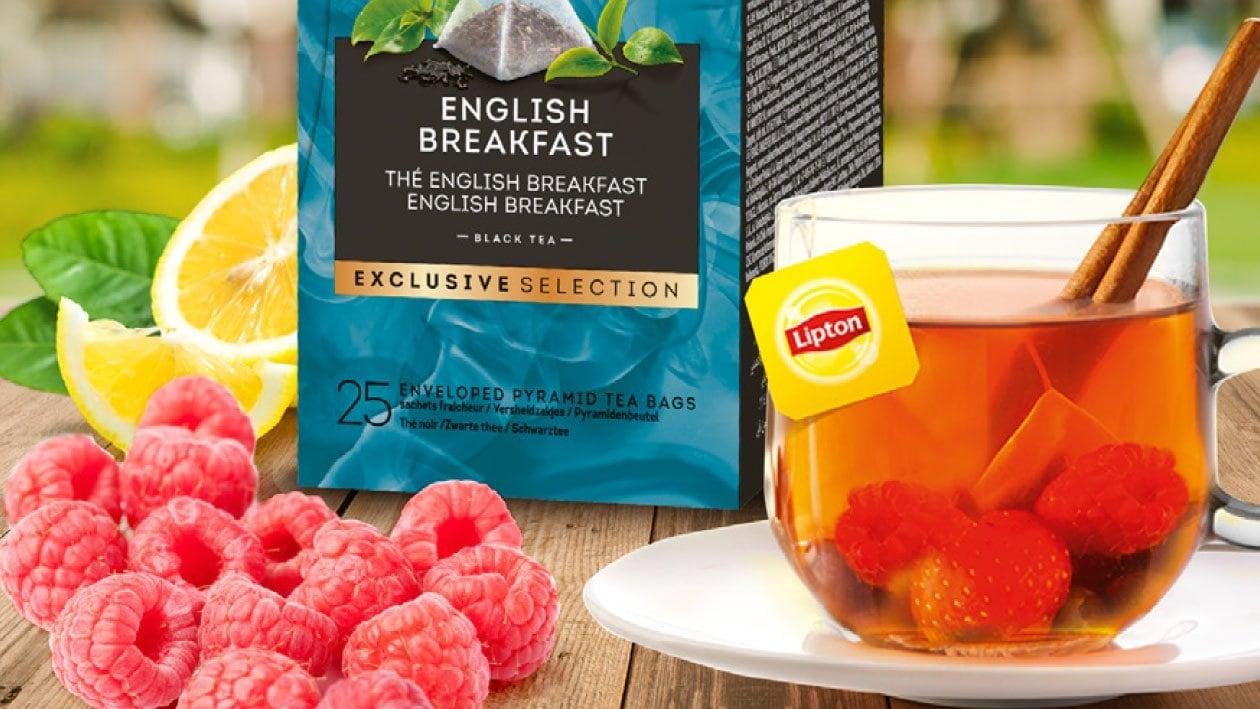 Té helado de frambuesa y limón - Té Gama selección exclusiva