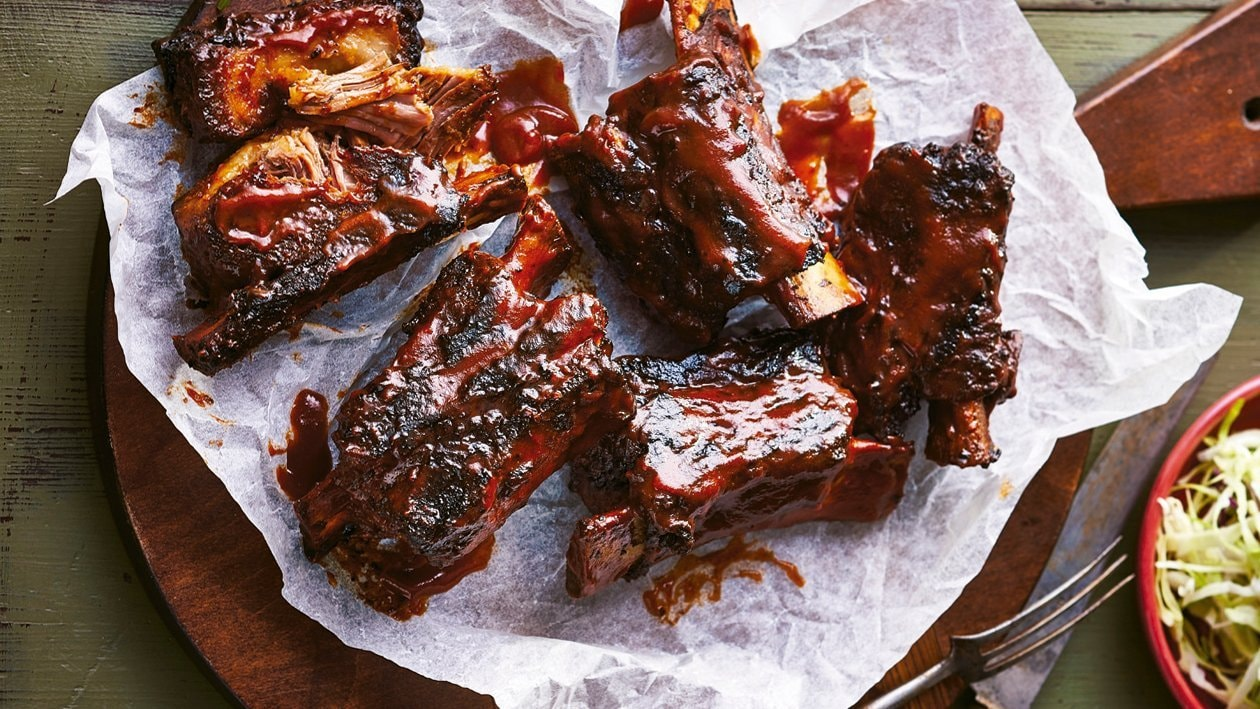 Triple chipotle american beef ribs