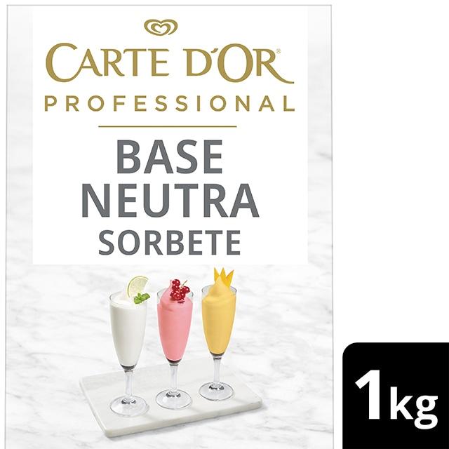 Base Neutra Sorbete Carte d'Or Sin Gluten 50 porciones - La nueva gama de Bases Neutras Carte d'Or Profesional te permite explorar, experimentar y elaborar postres versátiles y creativos