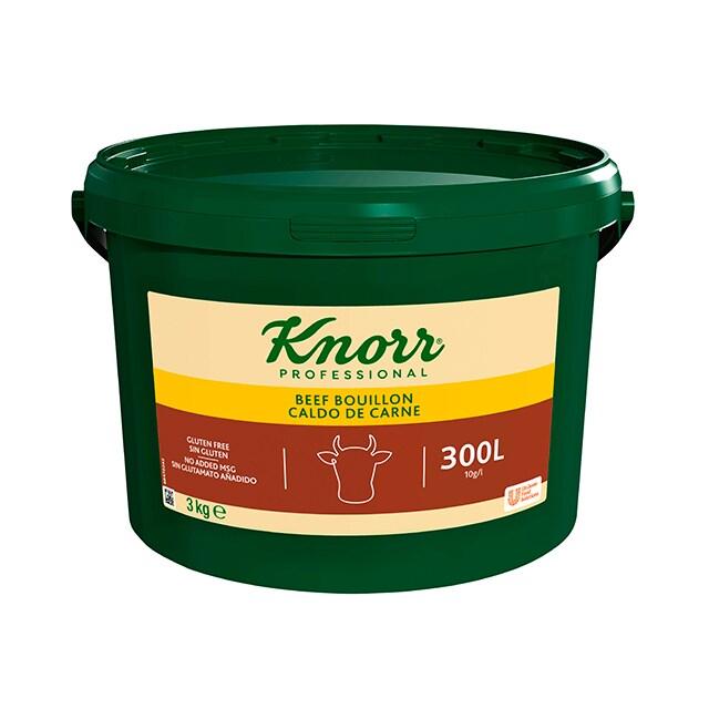 Knorr Caldo Base Clean Label Carne 3KG Sin Gluten - Caldo Base de Carne Sin alérgenos declarables** y con etiqueta limpia