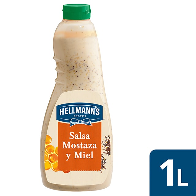 Hellmann's salsa para ensalada Mostaza y Miel sin gluten 1L - Nuevas salsas para Ensalada Hellmann's, ahora sin gluten, el mejor ingrediente para inspirar tu creatividad