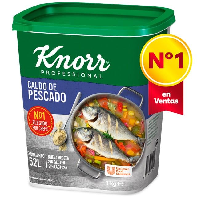 Knorr Caldo sazonador de Pescado sin gluten y sin lactosa bote 1kg