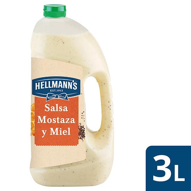 Hellmann's salsa para ensalada Mostaza y Miel sin gluten 3L - Nueva salsa para Ensalada Mostaza y Miel 3L Hellmann's, ahora sin gluten, el mejor ingrediente para inspirar tu creatividad