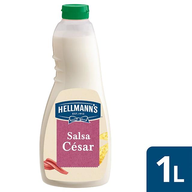 Hellmann's salsa para ensalada César sin gluten 1L - Salsa César. Descubre las nuevas salsas para Ensalada Hellmann's, ahora sin gluten, el mejor ingrediente para inspirar tu creatividad